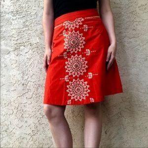 LITHE Anthropologie Gilded Dawn Boho Skirt Size 4